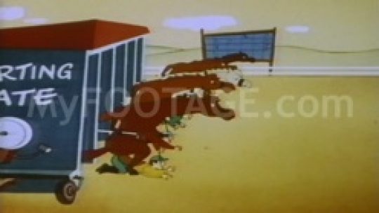1950's CARTOON - Horses riding people