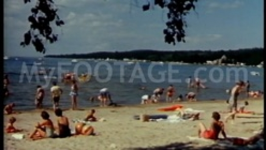 Retro seashore in summer